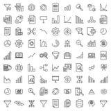 Premium set of analysis line icons. royalty free stock image