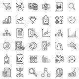 Premium set of analytic line icons. Royalty Free Stock Photos