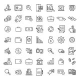 Premium set of banking line icons. Simple pictograms pack. Stroke vector illustration on a white background. Modern outline style icons collection Royalty Free Stock Images