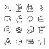 Premium set of banking line icons. Simple pictograms pack. Stroke vector illustration on a white background. Modern outline style icons collection Stock Image