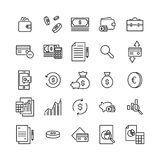 Premium set of banking line icons. Simple pictograms pack. Stroke vector illustration on a white background. Modern outline style icons collection Royalty Free Stock Photos