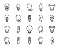 Premium set of bulb line icons. Stock Photos