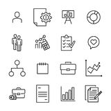Premium set of business line icons. Royalty Free Stock Image