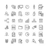 Premium set of business line icons. Simple pictograms pack. Stroke vector illustration on a white background. Modern outline style icons collection Royalty Free Stock Photo