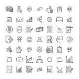 Premium set of business line icons. Simple pictograms pack. Stroke vector illustration on a white background. Modern outline style icons collection Stock Images