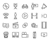 Premium set of cinema line icons. Simple pictograms pack. Stroke  illustration on a white background. Modern outline style icons collection Royalty Free Stock Photos