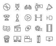 Premium set of cinema line icons. Stock Images