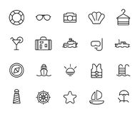 Premium set of cruise line icons. Stock Images
