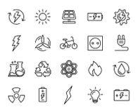 Premium set of energy line icons. Royalty Free Stock Photo