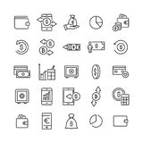 Premium set of finance line icons. Simple pictograms pack. Stroke vector illustration on a white background. Modern outline style icons collection Royalty Free Stock Photography