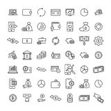 Premium set of finance line icons. Simple pictograms pack. Stroke vector illustration on a white background. Modern outline style icons collection Stock Images