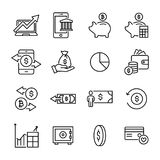 Premium set of finance line icons. Simple pictograms pack. Stroke vector illustration on a white background. Modern outline style icons collection Stock Photography