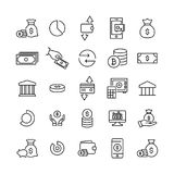Premium set of finance line icons. Simple pictograms pack. Stroke vector illustration on a white background. Modern outline style icons collection Stock Photos