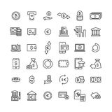 Premium set of finance line icons. Simple pictograms pack. Stroke vector illustration on a white background. Modern outline style icons collection Stock Image