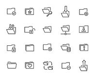 Premium set of folder line icons. Simple pictograms pack. Stroke vector illustration on a white background. Modern outline style icons collection Stock Images