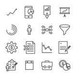 Premium set of freelance line icons. Royalty Free Stock Images