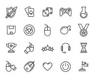 Premium set of game line icons Stock Images