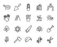 Premium set of garden line icons. Stock Photography
