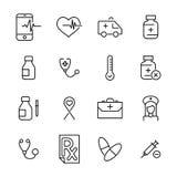Premium set of health line icons. stock illustration