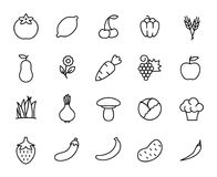 Premium set of healthy eating line icons Royalty Free Stock Photos