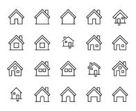 Premium set of home line icons Royalty Free Stock Photo
