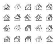 Premium set of house line icons. Stock Photography