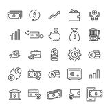 Premium set of investments line icons. Simple pictograms pack. Stroke vector illustration on a white background. Modern outline style icons collection Stock Image