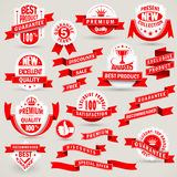 Premium set of labels and ribbons Stock Image