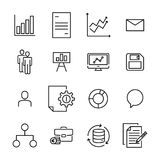 Premium set of leadership line icons. Royalty Free Stock Image