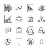 Premium set of management line icons. Stock Photography