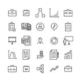 Premium set of management line icons. Simple pictograms pack. Stroke vector illustration on a white background. Modern outline style icons collection Royalty Free Stock Photos