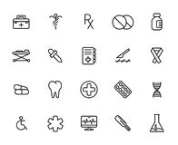 Premium set of medical line icons. Royalty Free Stock Photos