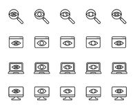 Premium set of observation or monitoring line icons. Stock Photography