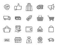 Free Premium Set Of Black Friday Line Icons. Stock Photo - 100168770
