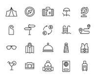Free Premium Set Of Travel Line Icons Royalty Free Stock Photo - 100168695
