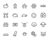 Premium set of pet line icons Stock Photos
