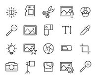 Premium set of photography line icons. Simple pictograms pack. Stroke  illustration on a white background. Modern outline style icons collection Royalty Free Stock Images