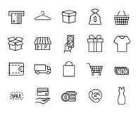 Premium set of shopping line icons. Simple pictograms pack. Stroke  illustration on a white background. Modern outline style icons collection Royalty Free Stock Photo