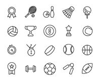 Premium set of sport line icons. Simple pictograms pack. Stroke vector illustration on a white background. Modern outline style icons collection Stock Image