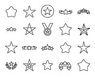 Premium set of star line icons. Simple pictograms pack. Stroke vector illustration on a white background. Modern outline style icons collection Royalty Free Stock Photography