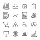 Premium set of strategy line icons. Simple pictograms pack. Stroke vector illustration on a white background. Modern outline style icons collection Royalty Free Stock Photography