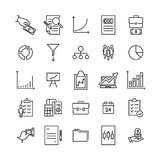 Premium set of strategy line icons. Simple pictograms pack. Stroke vector illustration on a white background. Modern outline style icons collection Stock Photography
