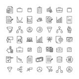 Premium set of strategy line icons. Simple pictograms pack. Stroke vector illustration on a white background. Modern outline style icons collection Royalty Free Stock Photos