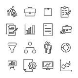 Premium set of strategy line icons. Simple pictograms pack. Stroke vector illustration on a white background. Modern outline style icons collection Stock Photos