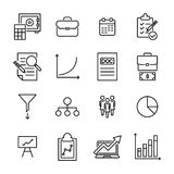 Premium set of strategy line icons. Simple pictograms pack. Stroke vector illustration on a white background. Modern outline style icons collection Stock Photo