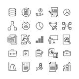 Premium set of strategy line icons. Simple pictograms pack. Stroke vector illustration on a white background. Modern outline style icons collection Stock Images