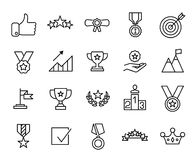 Premium set of success line icons. Simple pictograms pack. Stroke vector illustration on a white background. Modern outline style icons collection Stock Photography