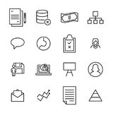 Premium set of teamwork line icons. Royalty Free Stock Photography