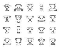 Premium set of trophy line icons. Simple pictograms pack. Stroke vector illustration on a white background. Modern outline style icons collection Stock Photo