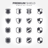 Premium Shield Badge Stock Set Stock Photography